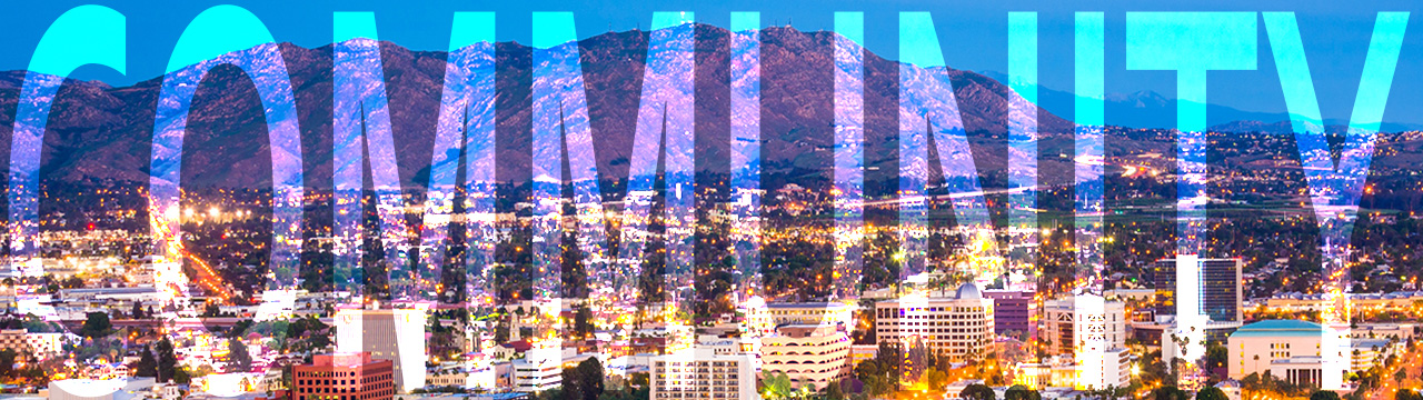 Twilight view of the city of Riverside, from Mount Rubidoux Park, in Riverside, California.; Shutterstock ID 261013616